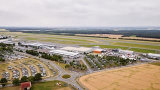 Overview with a helicopter at Paderborn-Lippstadt Airport