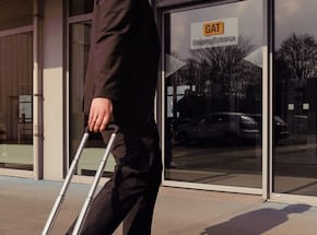 man with trolley in front of GAT