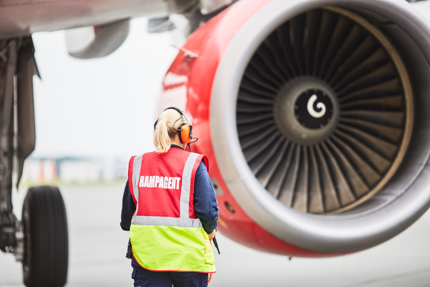 ramp agent in front of turbine